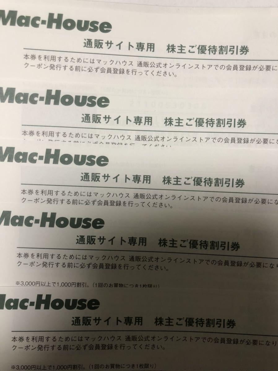 マックハウス 株主優待 20%割引券+通販サイト専用割引券 10枚セット_画像3