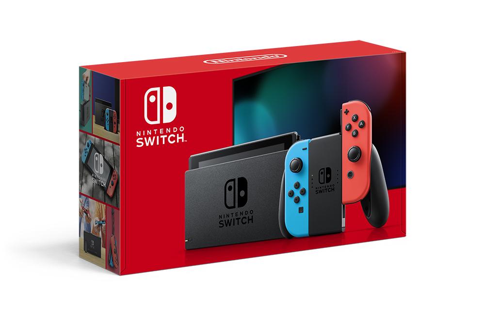 新品 未開封 Nintendo Switch 本体 (ニンテンドースイッチ) Joy-Con(L) ネオンブルー/(R) ネオンレッド(新モデル)_画像1