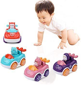 赤ちゃんおもちゃ 車おもちゃ ミニカー 四個入り 動物 カーズ 車両 知育玩具 子供向け ベビーおもちゃ 男の子 女の子 幼児_画像1