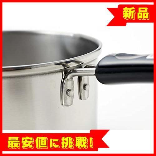 【最安!残1!】13cm IH対応 ミルクパン ステンレス デイズキッチン パール金属 日本製 H-5171_画像4
