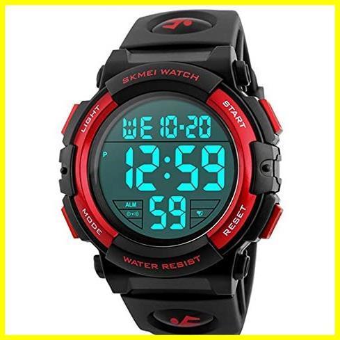 1E 新品 メンズ 防水腕時計 led watch 迅速対応 Timever(タイムエバー)デジタル腕時計 スポーツウォッチ アラーム_画像1