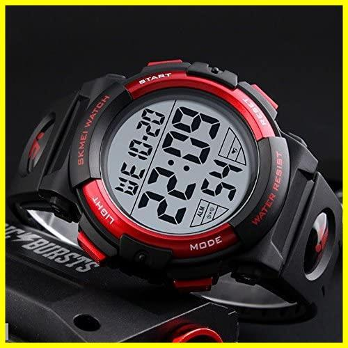1E 新品 メンズ 防水腕時計 led watch 迅速対応 Timever(タイムエバー)デジタル腕時計 スポーツウォッチ アラーム_画像2