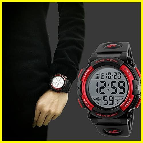 1E 新品 メンズ 防水腕時計 led watch 迅速対応 Timever(タイムエバー)デジタル腕時計 スポーツウォッチ アラーム_画像4