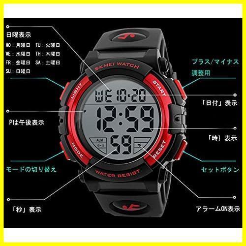 1E 新品 メンズ 防水腕時計 led watch 迅速対応 Timever(タイムエバー)デジタル腕時計 スポーツウォッチ アラーム_画像3