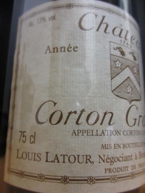 【世紀のヴィンテージ!】1985年 コルトン グランセ グラン・クリュ 《 ルイ・ラトゥール 》【750ml】_画像3