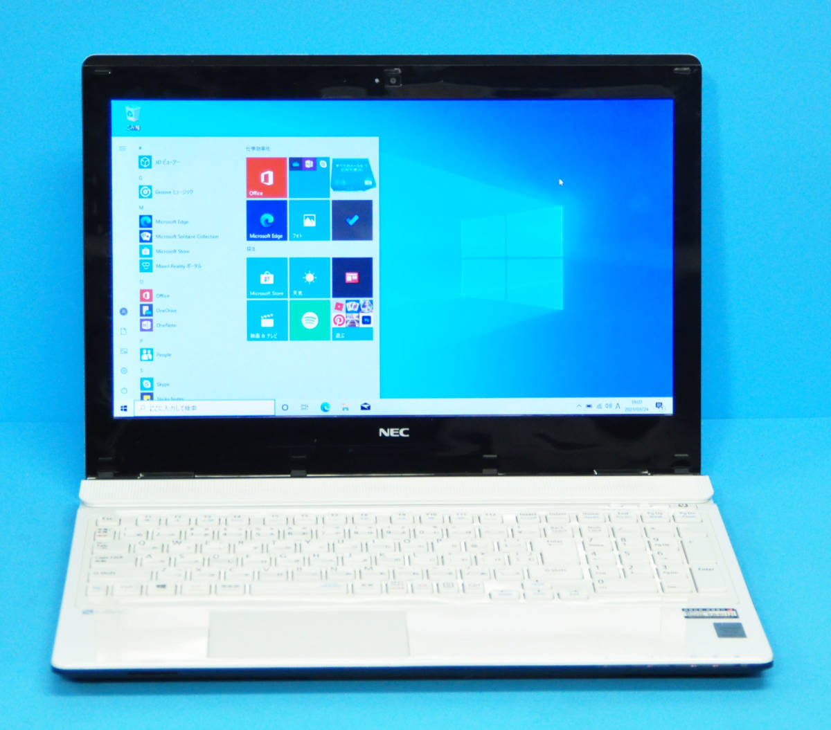♪良品 上位モデル LAVIE Direct NS PC-GN202FSA4♪ 第5世代 Core i3 5005U/メモリ8GB/新SSD:240GB/マルチ/カメラ/Wlan/Office2019/Win10_画像1