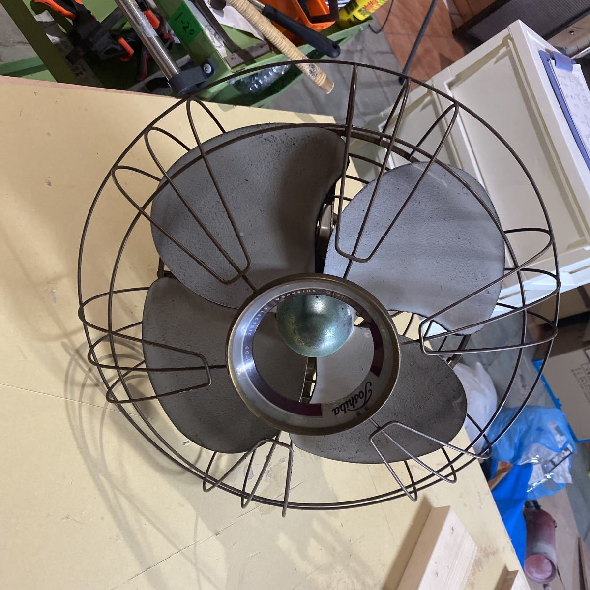 昭和レトロ 国鉄扇風機 TOSHIBA アンティーク _画像1