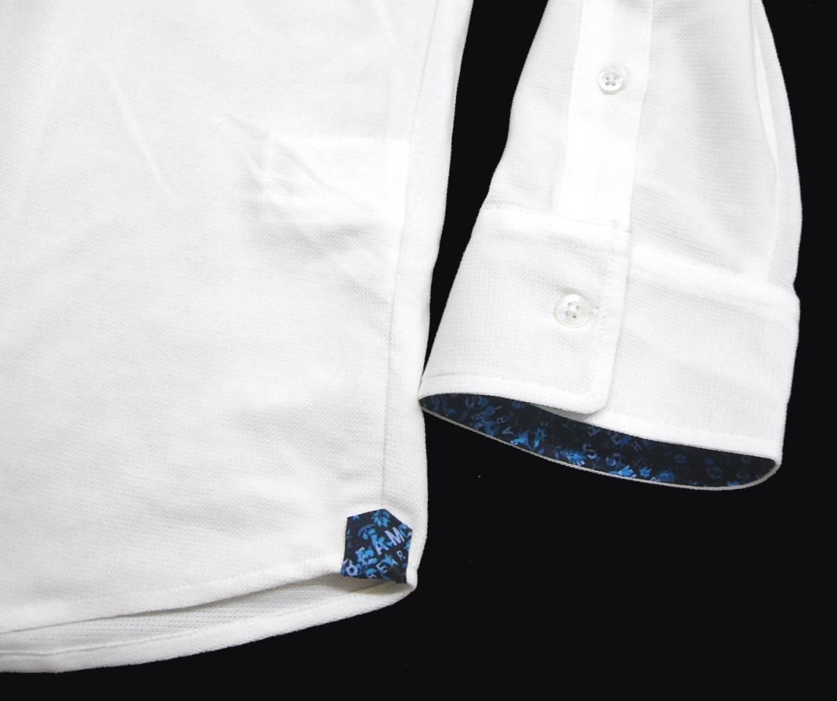 新品 春夏 ★ ビームス 七分袖 カプリシャツ L 白 ホワイト カット プルオーバー 小花柄 BEAMS HEART_画像6