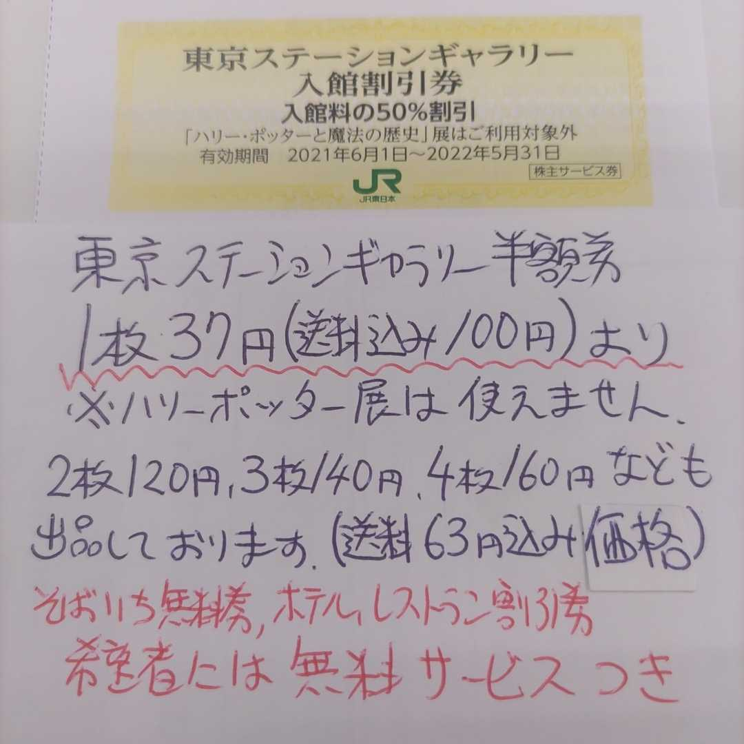 JR東日本優待券の東京ステーションギャラリー半額割引券8枚77円(ミニレター送料込み140円)即決価格(更に値下げしました!)_画像1
