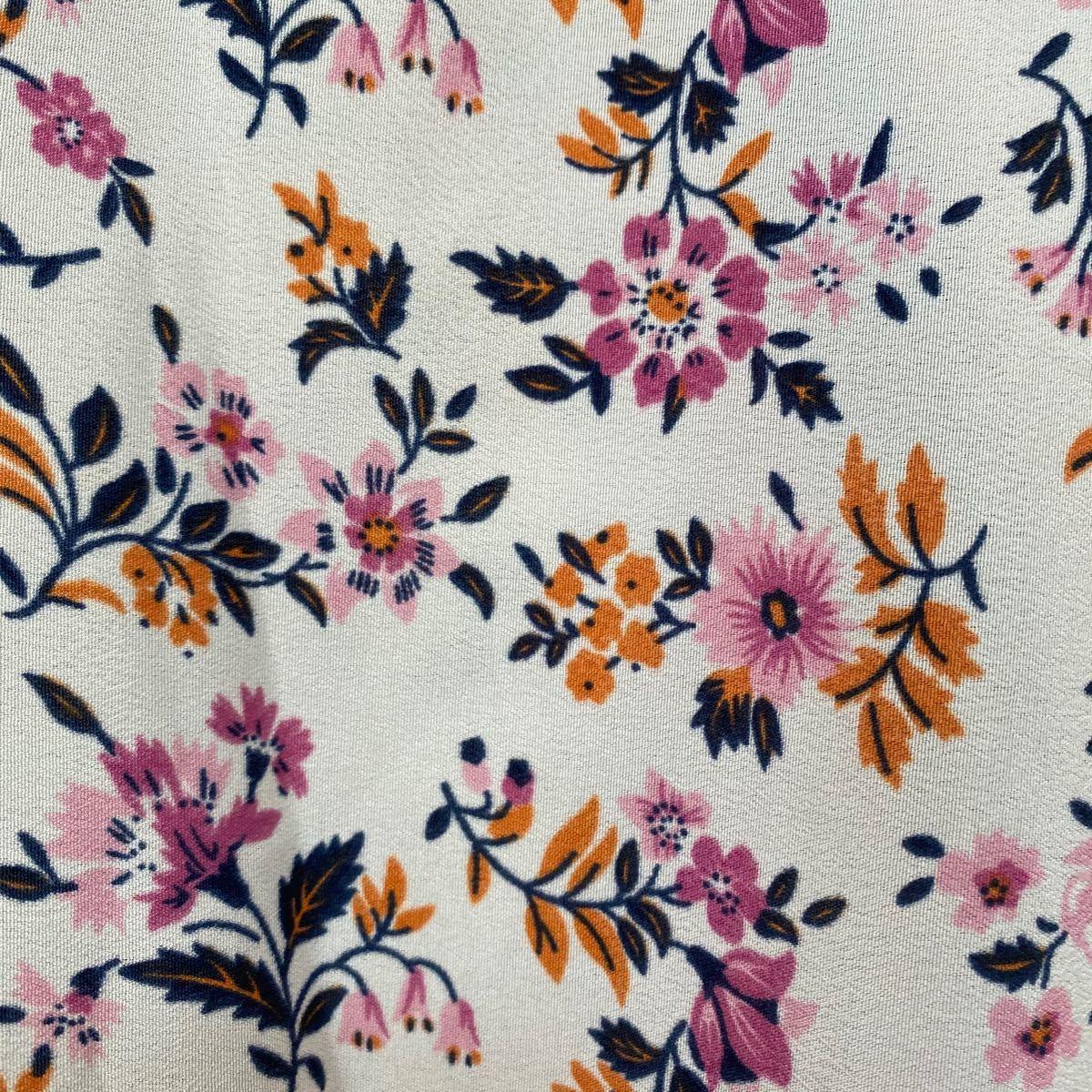 ワンピース 韓国 レディース 花柄 ロングワンピース インポート 花柄ワンピース シャツ ロングシャツ 夏 ロングスカート S