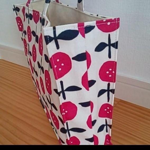 ハンドメイド 帆布 撥水加工 生成りトートバッグ ハンドバッグ 紙袋風