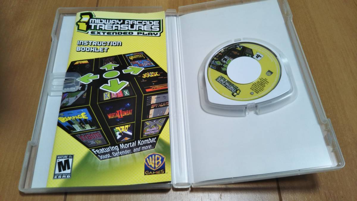 PSP ソフト Midway Arcade Treasures Extended Play ミッドウェイ アーケード トレジャーズEXP 動作確認済み 美品