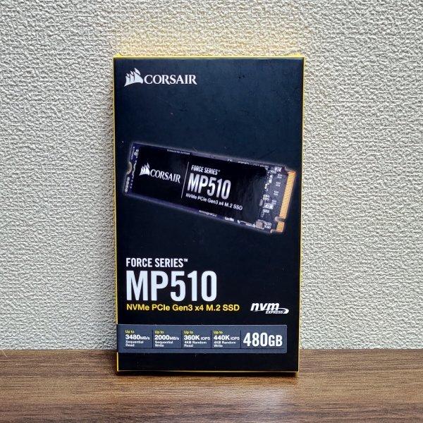 送料無料◆ほぼ未使用 Corsair Force MP510 NVMe PCIe Gen3 x4 M.2 SSD 480GB CSSD-F480GBMP510 800TBW◆