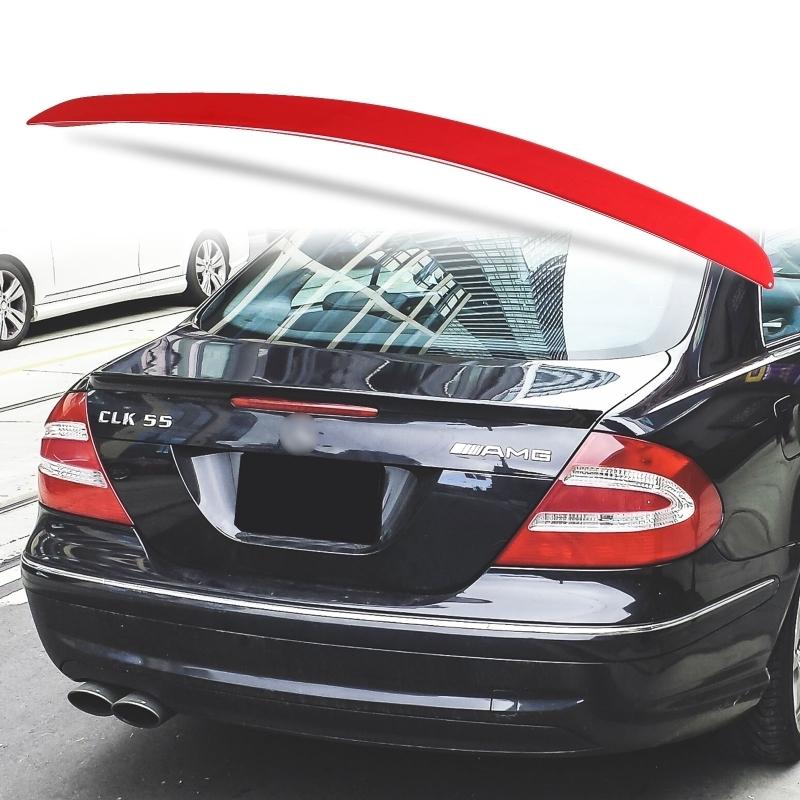 純正色塗装 ABS製 トランクスポイラー メルセデスベンツ CLKクラス W209用 クーペ Aタイプ 両面テープ取付 カラーコード:590_画像1