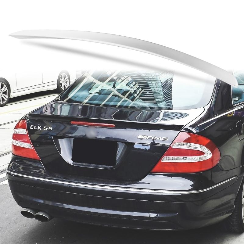 純正色塗装 ABS製 トランクスポイラー メルセデスベンツ CLKクラス W209用 クーペ Aタイプ 両面テープ取付 カラーコード:775_画像1