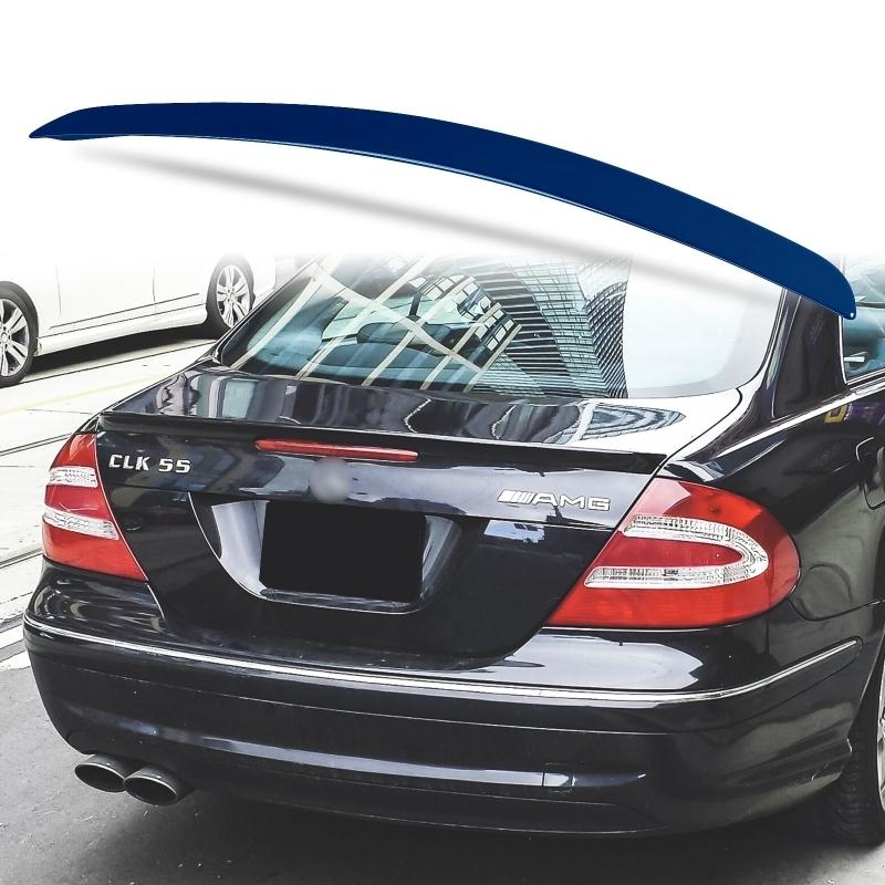純正色塗装 ABS製 トランクスポイラー メルセデスベンツ CLKクラス W209用 クーペ Aタイプ 両面テープ取付 カラーコード:359_画像1