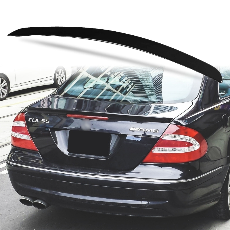 純正色塗装 ABS製 トランクスポイラー メルセデスベンツ CLKクラス W209用 クーペ Aタイプ 両面テープ取付 カラーコード:040_画像1