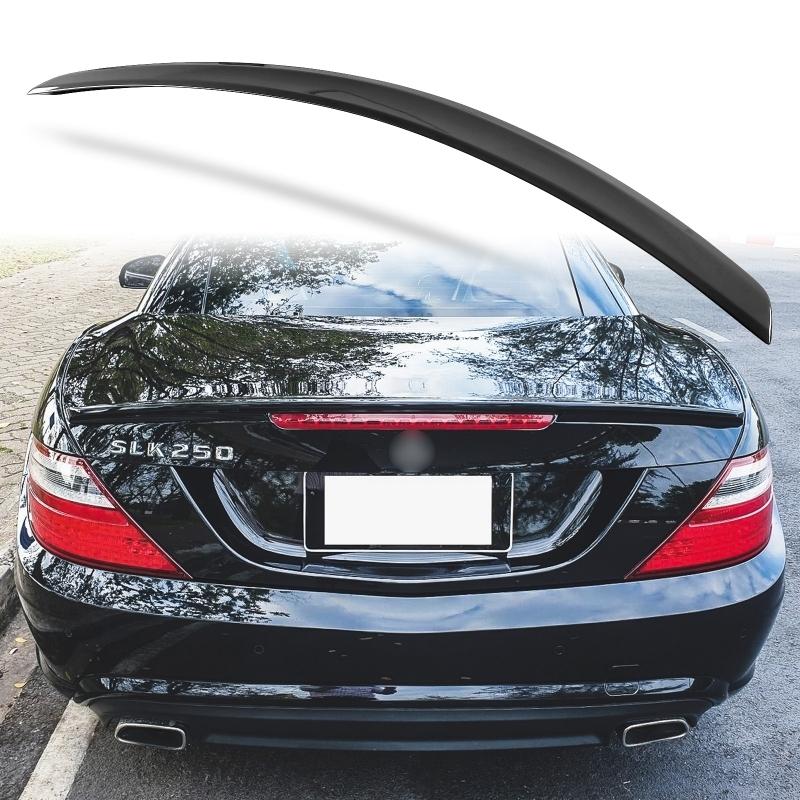 純正色塗装 ABS製 トランクスポイラー メルセデスベンツ SLKクラス R172用 前期 Aタイプ 両面テープ取付 カラーコード:197_画像1