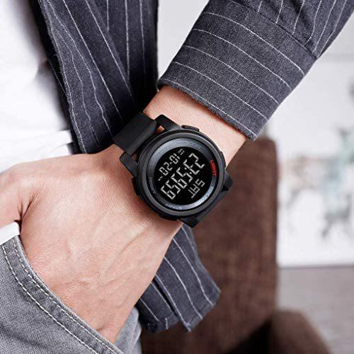 Timever(タイムエバー)デジタル腕時計 防水 メンズ スポーツ うで時計 多機能付き ストップウォッチ アラーム アウトドア led watch_画像9