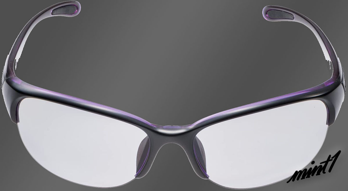 【反射光を抑えクリアな視界に】 スポーツ サングラス スワンズ レディース 女性用 偏光レンズ 日本製 ケース付 ブラック×パープル