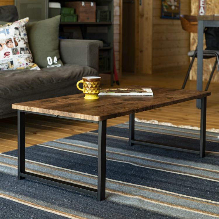 テーブル 木製 長方形 北欧 センターテーブル アウトレット価格 新品 ローテーブル おしゃれ オーク色_画像8