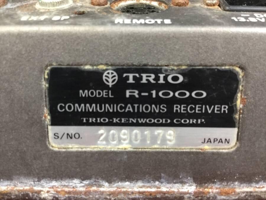 TRIO R-1000 通信型受信機◇現状品_画像3