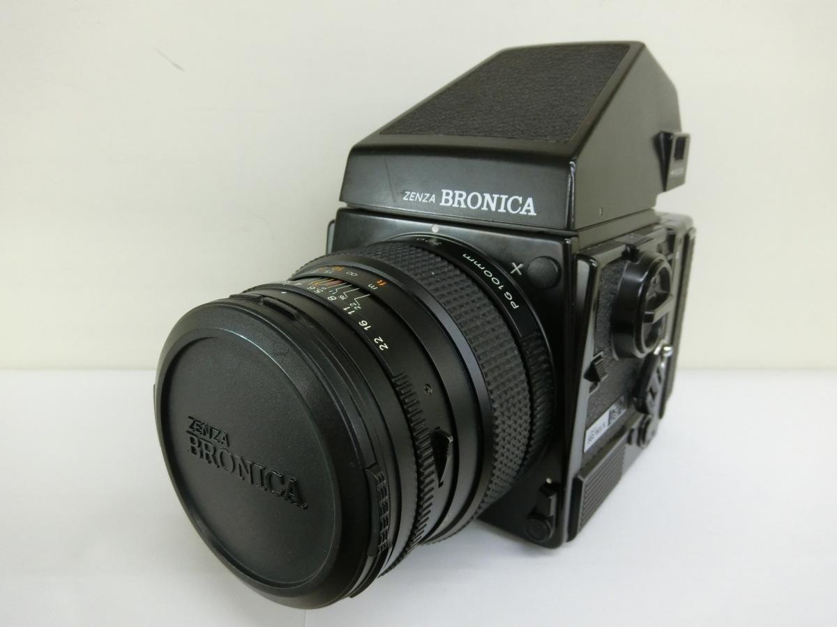 ゼンザブロニカ ZENZA BRONICA カメラ GS-1 100mmレンズ付 中古 ジャンク G7-78◎