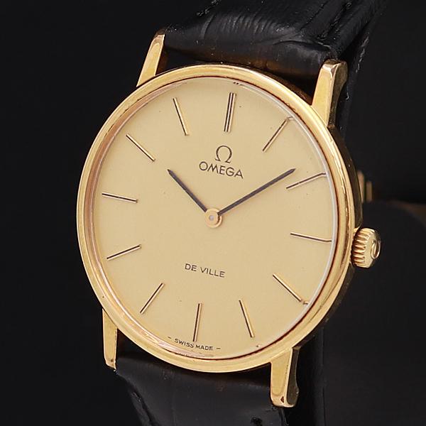 1円★OH済◆2021年7月【OMEGA/オメガ】デビル ゴールド文字盤 スイス製 手巻き メンズ腕時計 610A0105719