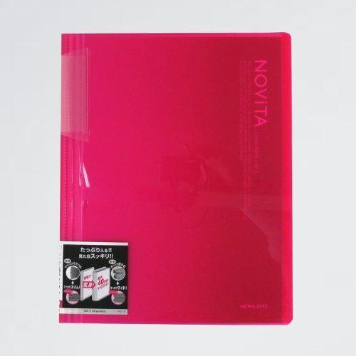 新品 好評 ファイル コクヨ W-LE ピンク ラ-N20P クリアファイル ノビ-タ 固定式 A4 20ポケット_画像1