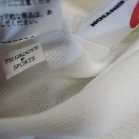 新品正規品 マスターバニー パーリーゲイツ サイズ4 高機能ドライミックス素材2021最新作 鹿の子 リブ襟 ポロシャツ 白 送料無料_画像3