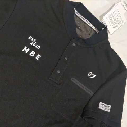新品正規品 マスターバニー パーリーゲイツ サイズ4 高機能ドライミックス素材2021最新作 鹿の子 リブ襟 ポロシャツ 黒 送料無料_画像9
