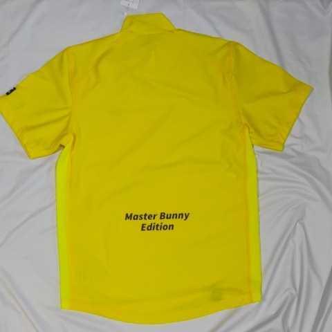 新品正規品 マスターバニー パーリーゲイツ サイズ3 2021モデルの最新作 高機能4wayストレッチ ハイネックシャツ イエロー 送料無料_画像1
