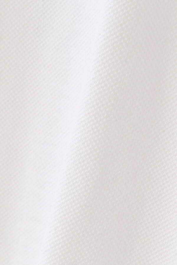 新品正規品 マスターバニー パーリーゲイツ サイズ4 高機能ドライミックス素材2021最新作 鹿の子 リブ襟 ポロシャツ 白 送料無料_画像7