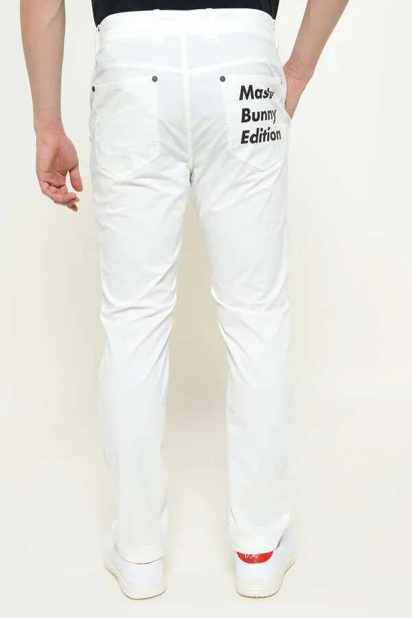 新品正規品 マスターバニー パーリーゲイツ サイズ5 2021モデルの最新作 ナイロン ドビー ストレッチ パンツ オフホワイト 送料無料_画像2