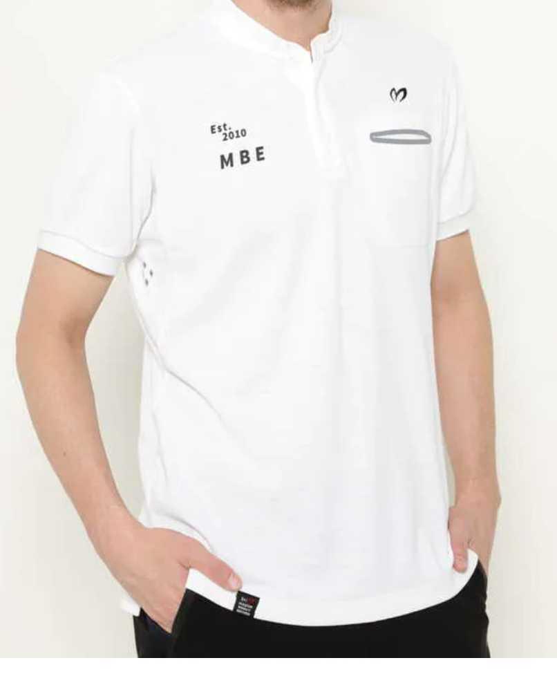 新品正規品 マスターバニー パーリーゲイツ サイズ6  高機能ドライミックス素材2021最新作 鹿の子 リブ襟 ポロシャツ 白 送料無料_画像5