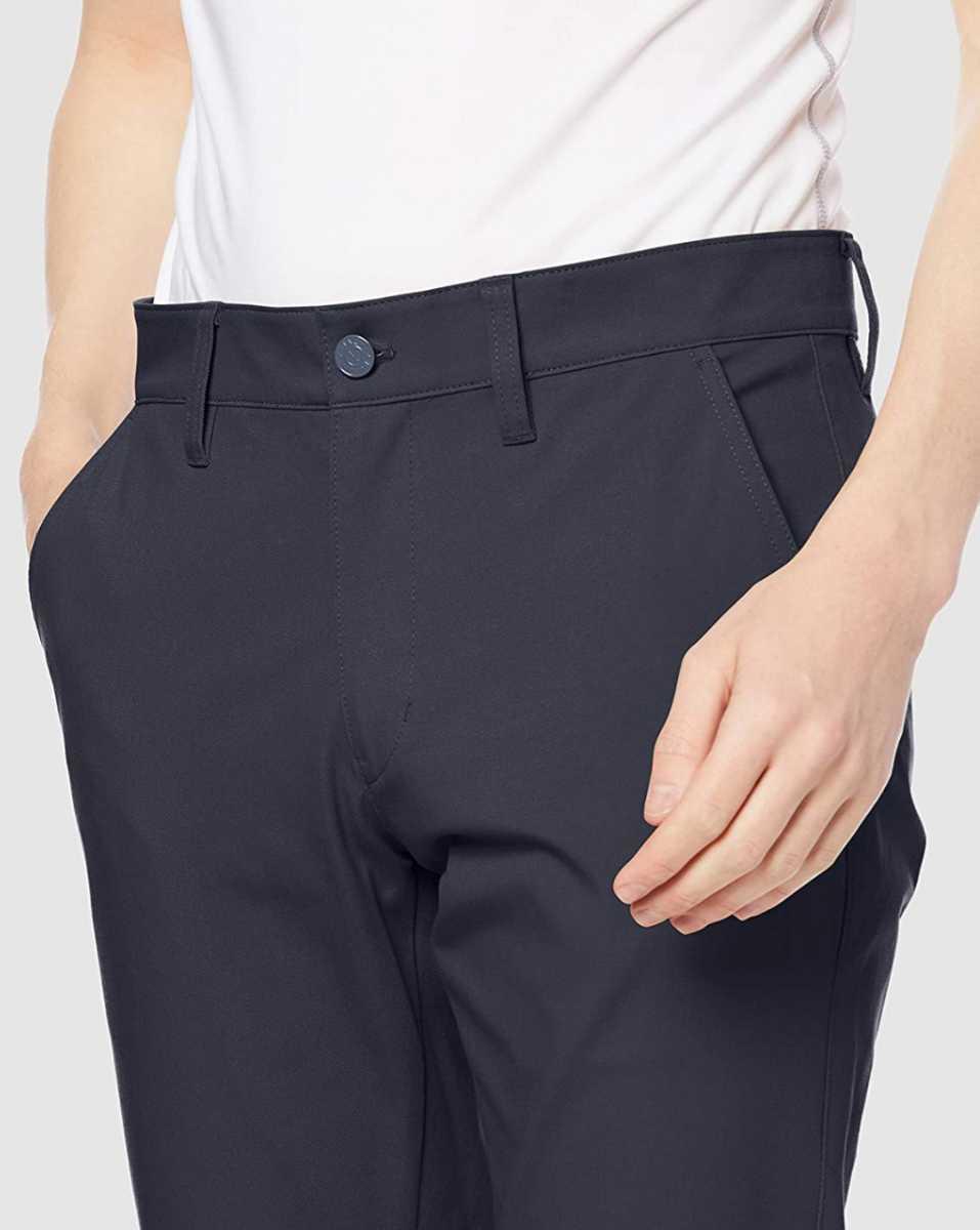 新品正規品 ジャックバニー パーリーゲイツ サイズ6 2021モデルの最新作 ストレッチ ツイル パンツ ネイビー バックロゴ 送料無料_画像3