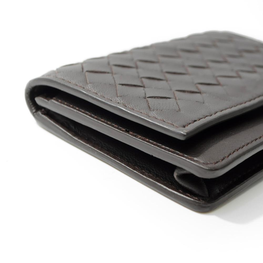 ボッテガ・ヴェネタ カードケース 名刺入れ イントレチャート ブラウン 茶色 BOTTEGA VENETA CARD CASE BROWN B00050786C_画像4
