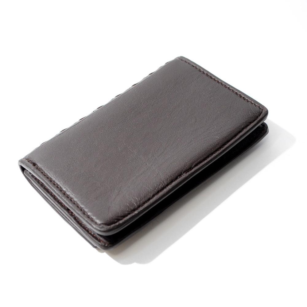 ボッテガ・ヴェネタ カードケース 名刺入れ イントレチャート ブラウン 茶色 BOTTEGA VENETA CARD CASE BROWN B00050786C_AACD加盟業者より仕入れた安心の正規品です