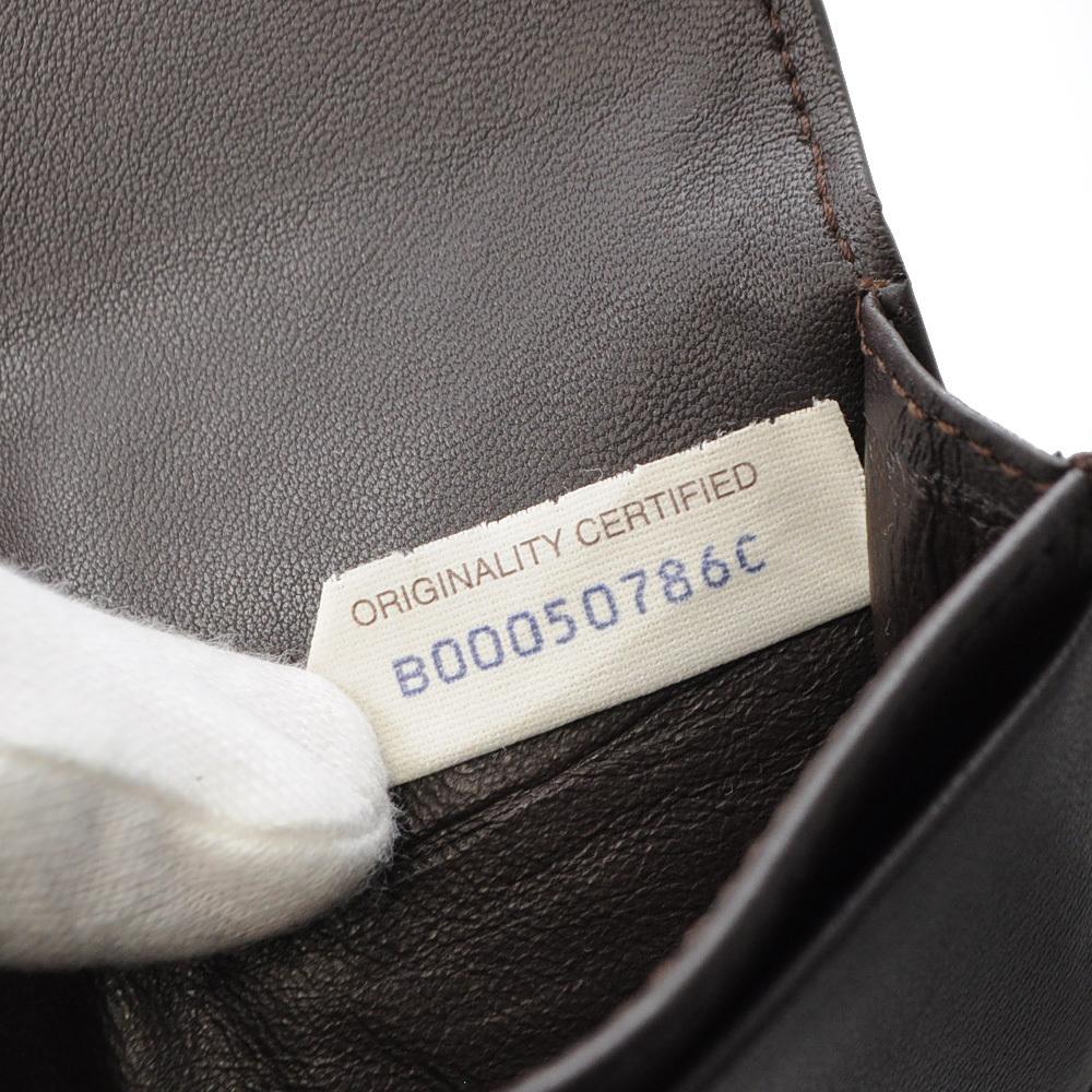 ボッテガ・ヴェネタ カードケース 名刺入れ イントレチャート ブラウン 茶色 BOTTEGA VENETA CARD CASE BROWN B00050786C_画像9