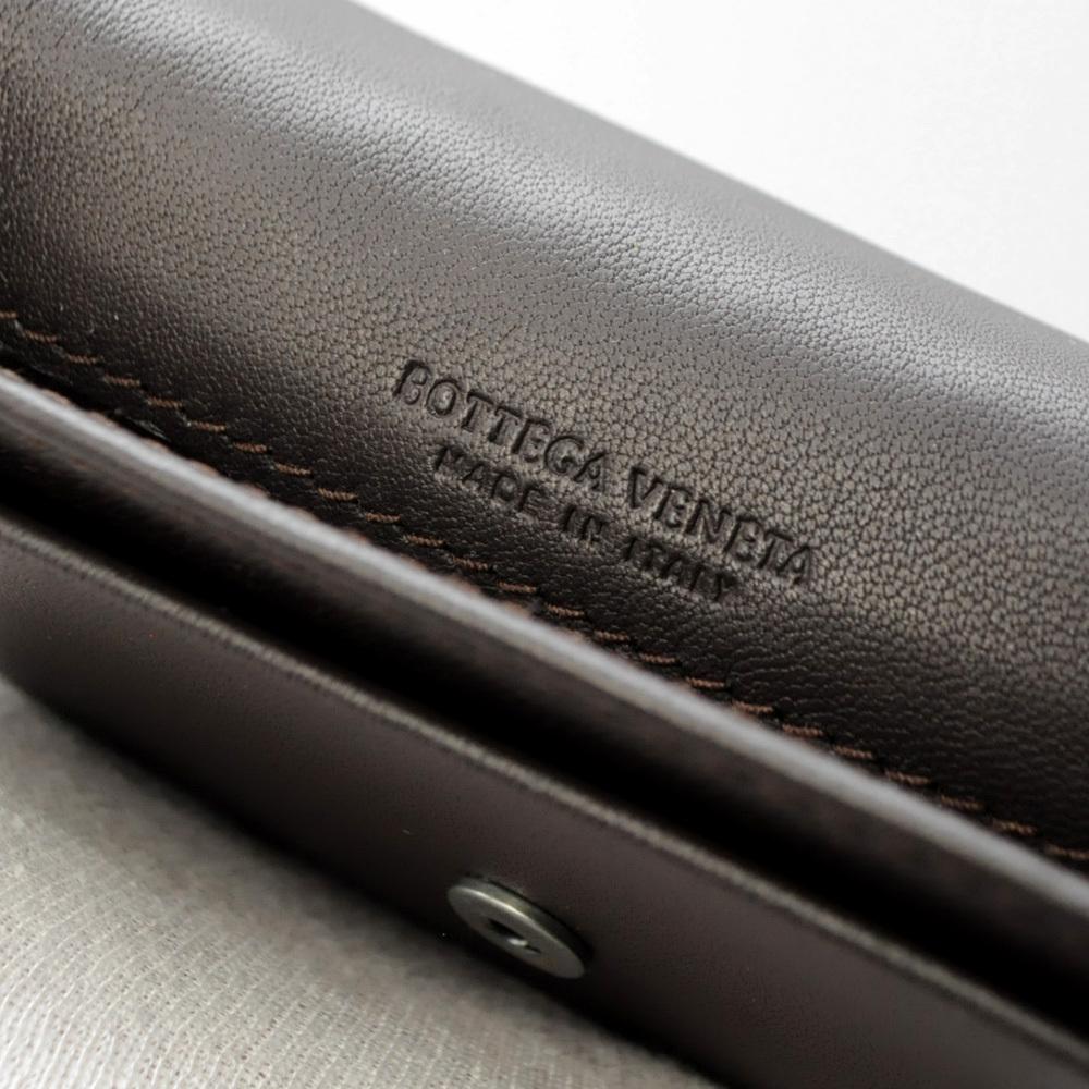 ボッテガ・ヴェネタ カードケース 名刺入れ イントレチャート ブラウン 茶色 BOTTEGA VENETA CARD CASE BROWN B00050786C_画像7