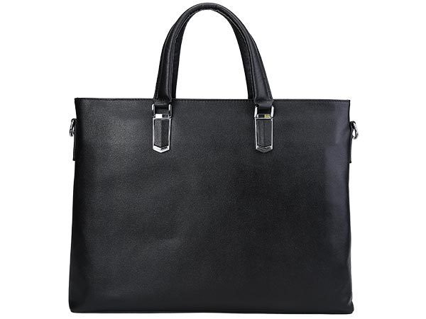 TIDING 軽量 撥水 バッファローレザー 本革 ビジネスバッグ メンズ ブリーフケース 2WAY 14PC A4対応 通勤 書類鞄 フォーマルに 黒 潮牛