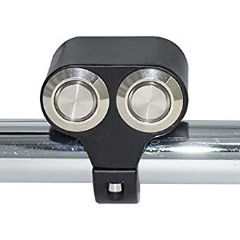ヘッドライトフォグスポットライトON/OFFスイッチ 防水 12V 22mmハンドルバーオートバイ用 LED インジケータライト_画像4