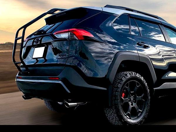 トヨタ RAV4 50系 リアラダー ハシゴ クロカン SUV オフロード 外装 カスタム パーツ ラブフォー ラブ4 梯子 ラダー【GD231_画像4