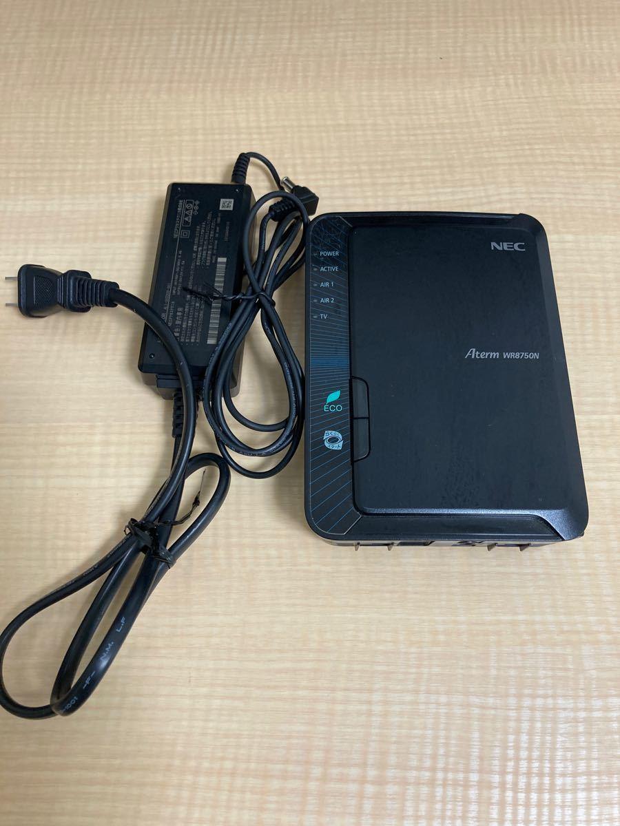 値下げ NEC Aterm WR8750N 中古 本体、ACアダプターのみ 無線LANルーター