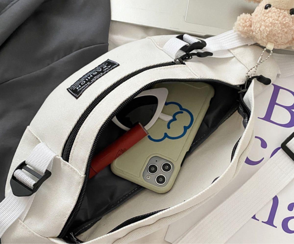 ボディバッグ レディース ショルダー 斜め掛け 韓国 オルチャン ミニバッグ 白 ウエストポーチ ウエストバッグ ショルダーバッグ