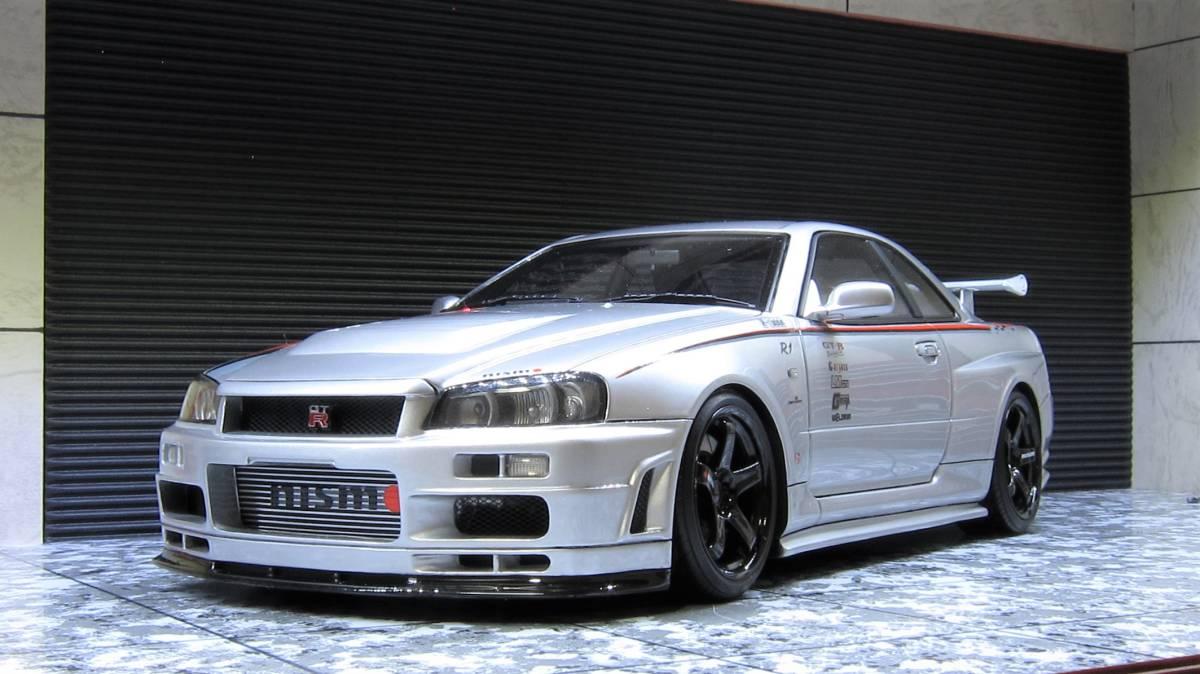 希少!IG1829 1/18 nismo R34 GT-R R-tune silver 新品 カスタム(ホイール変更) GTR BNR34 Z-tune LM GT4 ニスモ