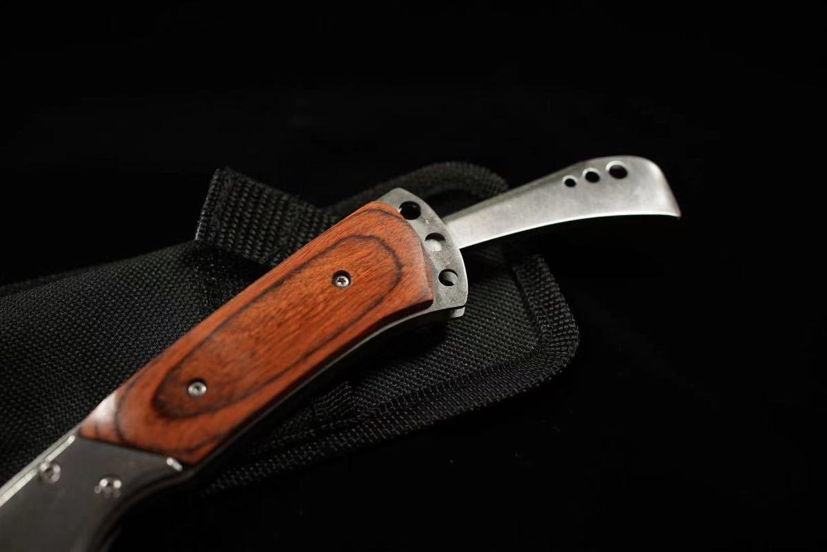折り畳み式ポケットナイフ サバイバルナイフ 包丁 フィッシング テント 焚き火