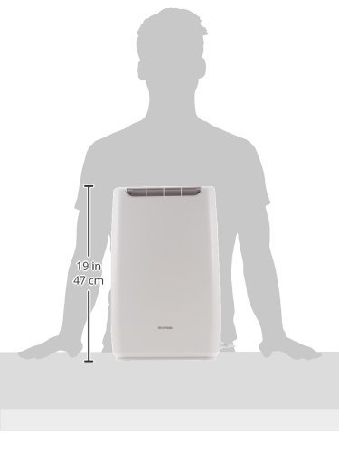 ホワイト ホワイト アイリスオーヤマ 衣類乾燥コンパクト除湿機 タイマー付 静音設計 除湿量 2.0L デシカント方_画像8