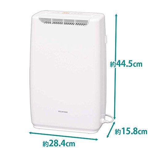 ホワイト ホワイト アイリスオーヤマ 衣類乾燥コンパクト除湿機 タイマー付 静音設計 除湿量 2.0L デシカント方_画像7