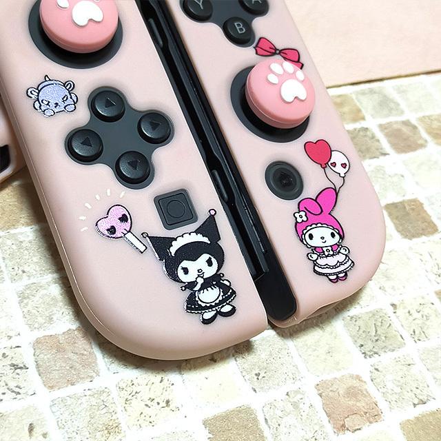 【即日~翌日発送】クロミ マイメロ ふうせん スイッチ カバー 任天堂 Switch 保護 ソフト ケース 分離式 かわいい ピンク ハート_画像6